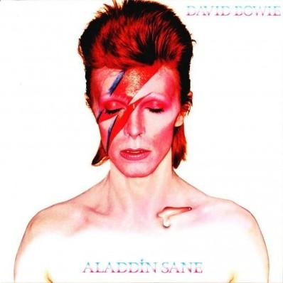 Um dos trabalhos mais famosos de Brian Duffy a capa do álbum Aladdin Sane de David Bowie