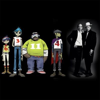 Além de manter viva a alma do Blur, a banda Gorillaz agora reúne a base do The Clash