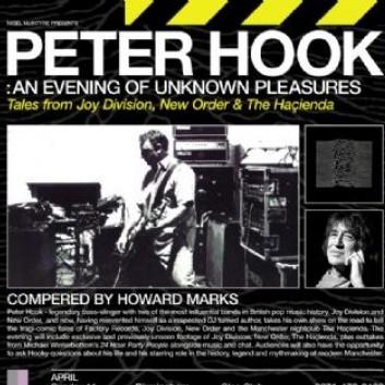 An Evening Of Unknown Pleasures, o nome da turnê de paletras que Peter Hook fará pelo Reino Unido